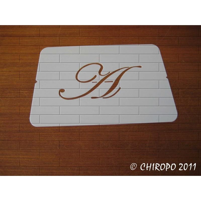 Pochoir Monogramme Script - Lettre A en 5cm (0634)