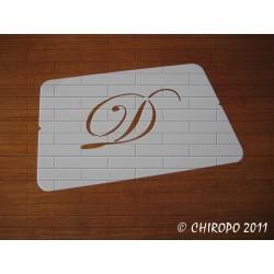 Pochoir Monogramme Script - Lettre D en 5cm (0634)