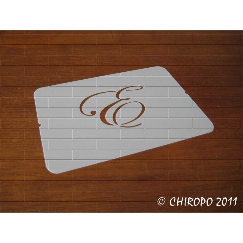 Pochoir Monogramme Script - Lettre E en 5cm (0634)