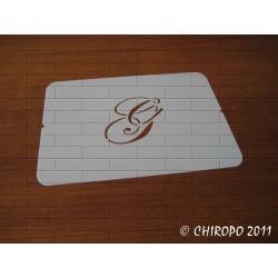 Pochoir Monogramme Script - Lettre G en 5cm (0634)