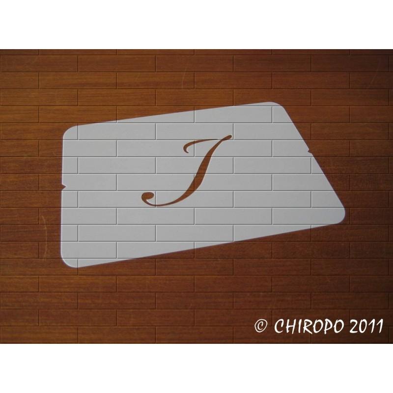 Pochoir Monogramme Script - Lettre I en 5cm (0634)