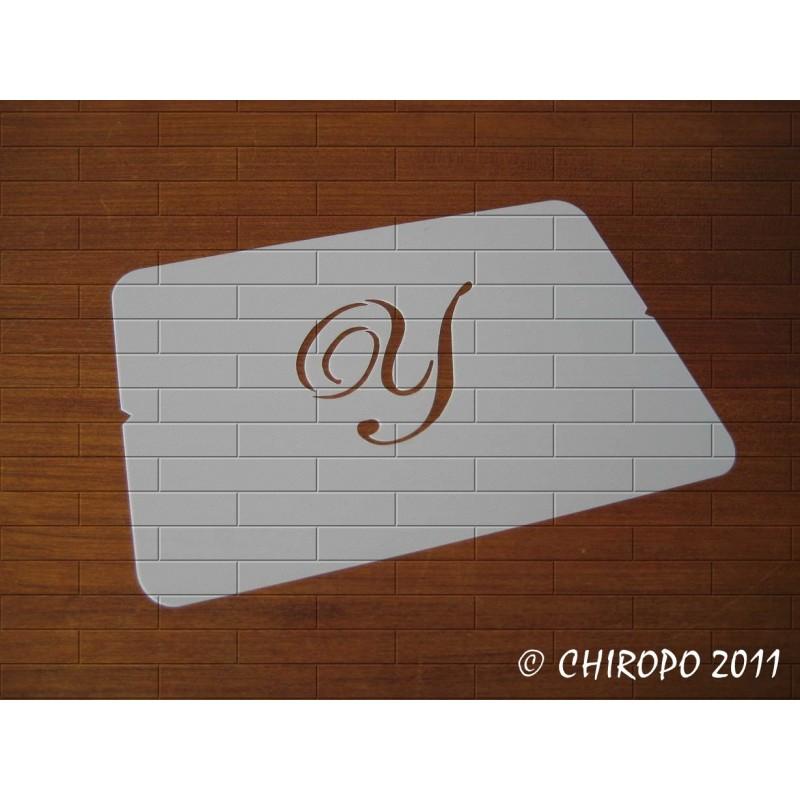 Pochoir Monogramme Script - Lettre Y en 5cm (0634)