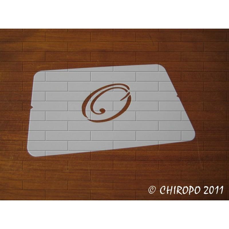 Pochoir Monogramme Script - Lettre O en 5cm (0634)