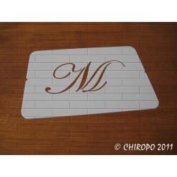 Pochoir Monogramme Script - Lettre M en 5cm (0634)