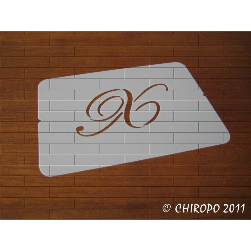 Pochoir Monogramme Script - Lettre X en 5cm (0634)