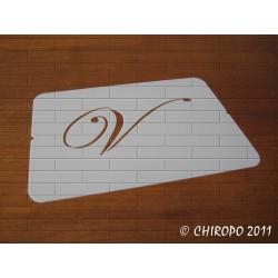 Pochoir Monogramme Script - Lettre V en 5cm (0634)