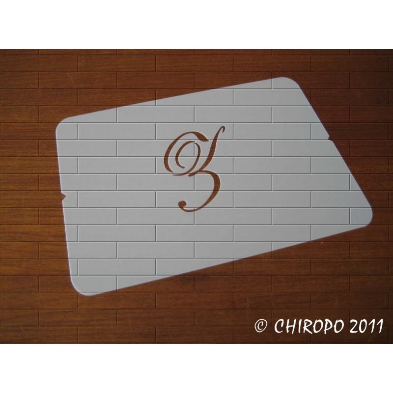 Pochoir Monogramme Script - Lettre Z en 5cm (0634)