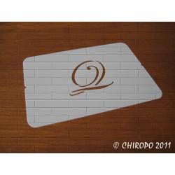 Pochoir Monogramme Script - Lettre Q en 5cm (0634)