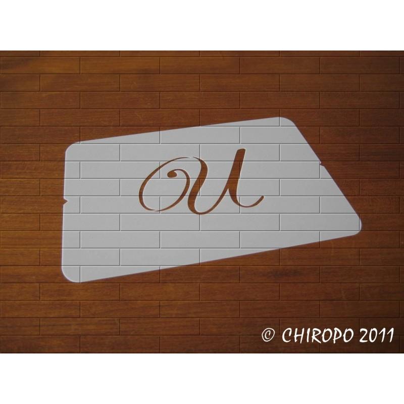 Pochoir Monogramme Script - Lettre U en 5cm (0634)