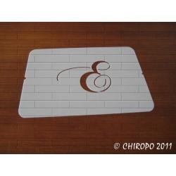 Pochoir Monogramme Chopin - Lettre E en 5cm (0649)
