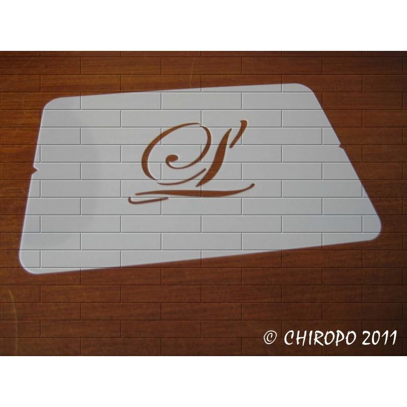 Pochoir Monogramme Script - Lettre L en 5cm (0634)