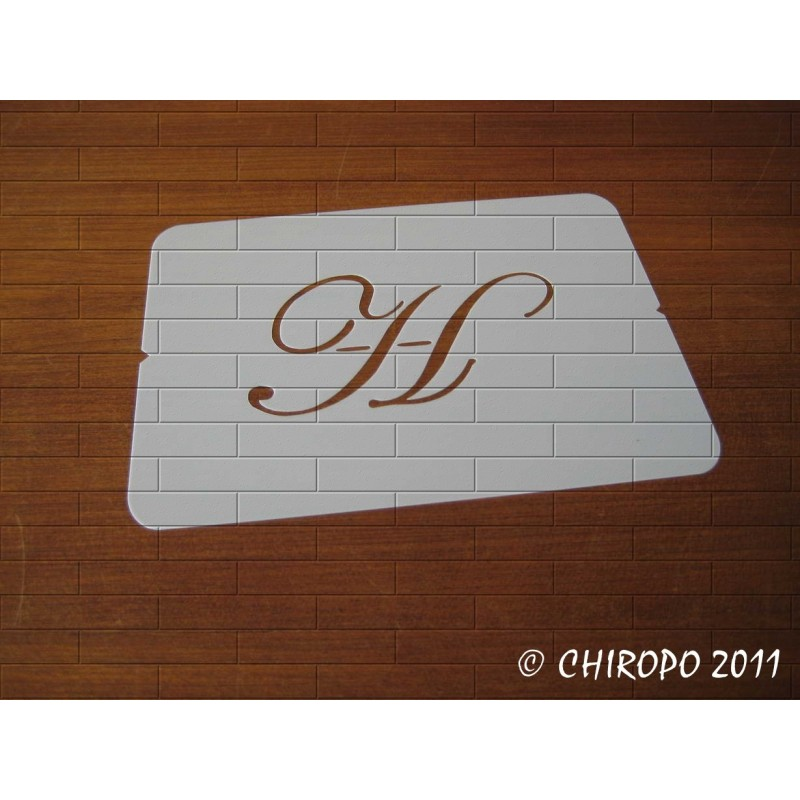 Pochoir Monogramme Script - Lettre H en 5cm (0634)