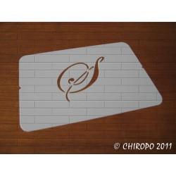 Pochoir Monogramme Script - Lettre S en 5cm (0634)