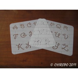 Pochoir alphabet - Giddy majuscule - 3cm (0666)