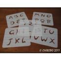 Pochoir alphabet - Arabo majuscule - 5cm (0216)