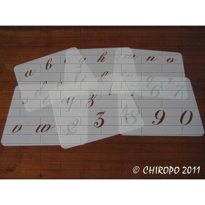 Pochoir alphabet - Chopin minuscule - 5cm (0648)