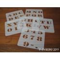 Pochoir alphabet - Army majuscule - 5cm (0219)