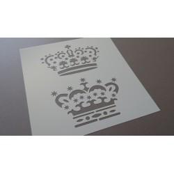 Pochoir Couronnes reine et roi (00092)