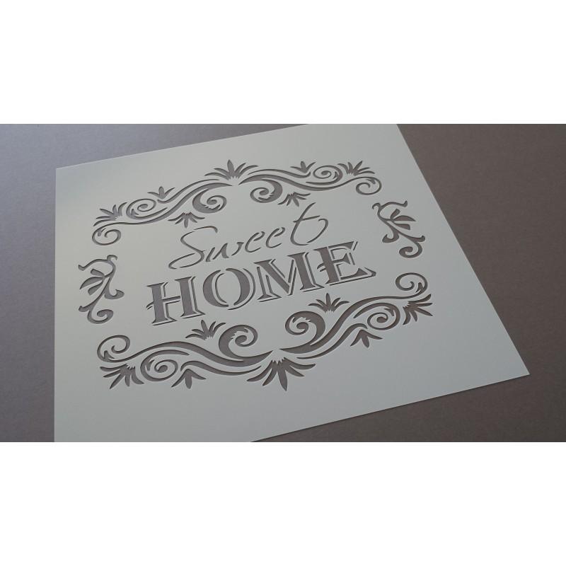 Pochoir Sweet Home Retro (00111)
