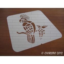 Pochoir perroquet (07210)