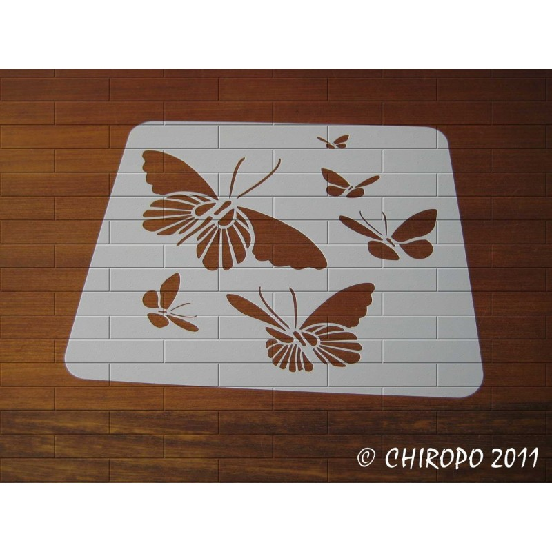 Pochoir Envol de Papillons 1 (04170)