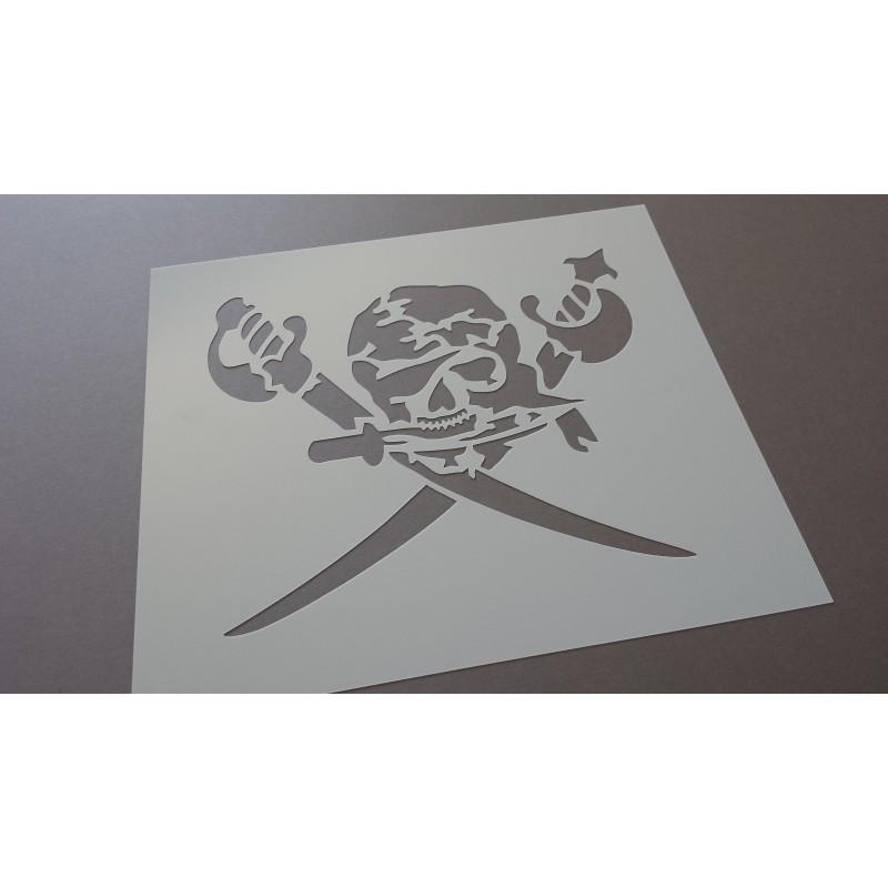 Pochoir Tête de mort pirate (00099)