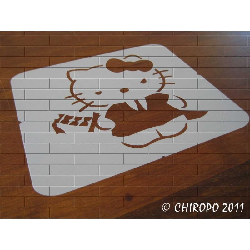 Pochoir Manga - Hello kitty (05980)