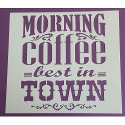 Pochoir - Morning Coffee (00121)