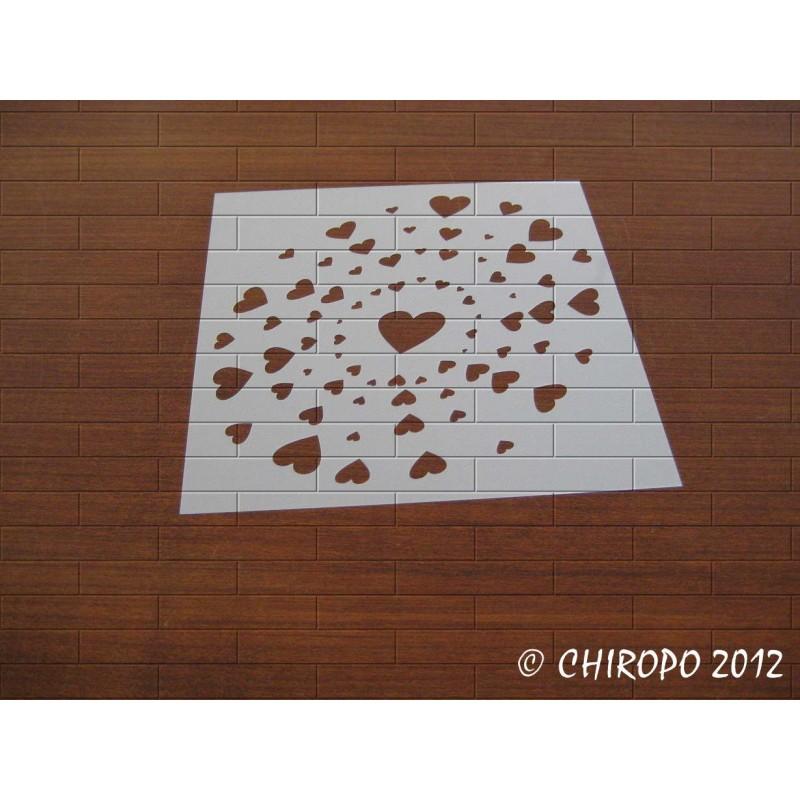 Pochoir Constellation de coeurs (07369)