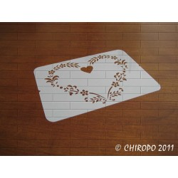 Pochoir Mini coeur 1 - Baroque (0545-F1)