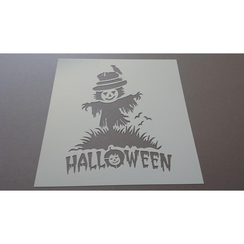 Pochoir épouvantail de Halloween (00074)