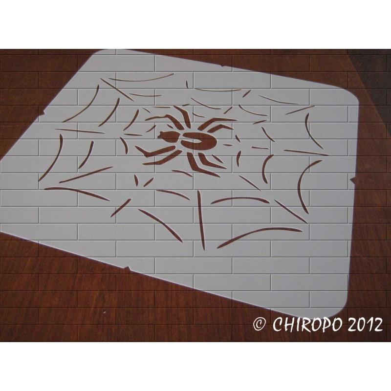 Pochoir Halloween - Toile d'araignée (07970)
