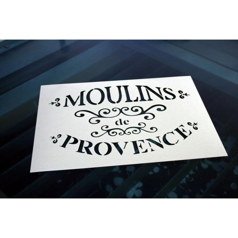 Pochoir - Moulins de Provence (00129)