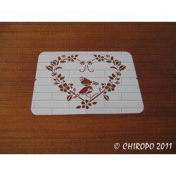 Pochoir Mini coeur 4 - Baroque (06571)