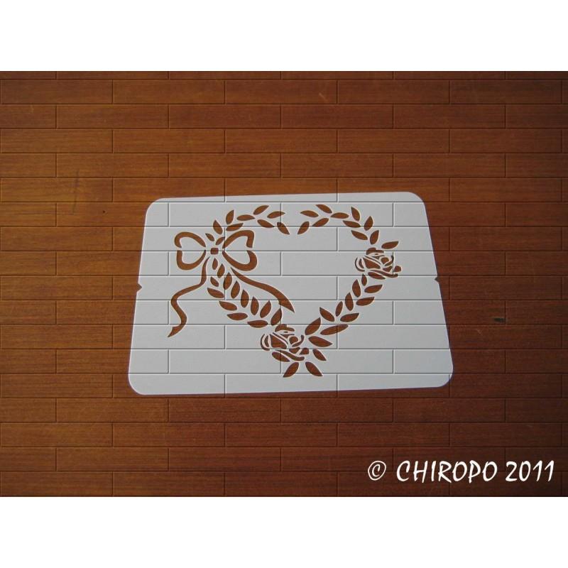 Pochoir Mini coeur 5 - Baroque (06581)