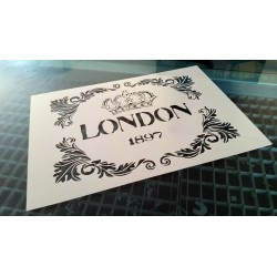 Pochoir shabby London (00135)