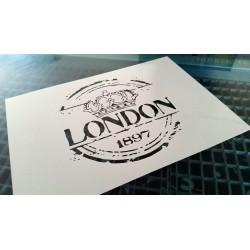 Pochoir shabby London (00135)