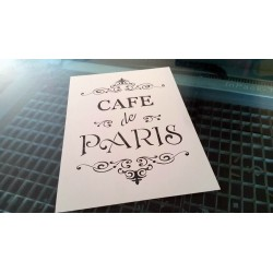 Pochoir shabby Cafe de Paris (00137)
