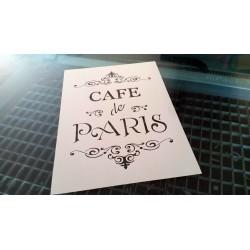 Pochoir shabby Cafe de Paris (00137)