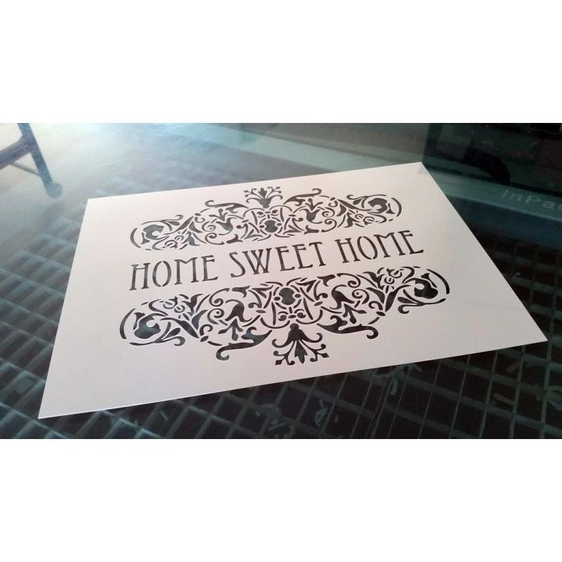 Pochoir shabby Home Sweet Home (00138)