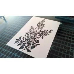 Pochoir fleur - Rosier du jardin (00143)