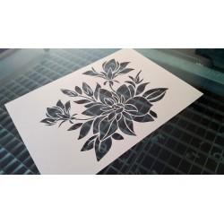 Pochoir fleur - bouquet de Fleurs (00147)