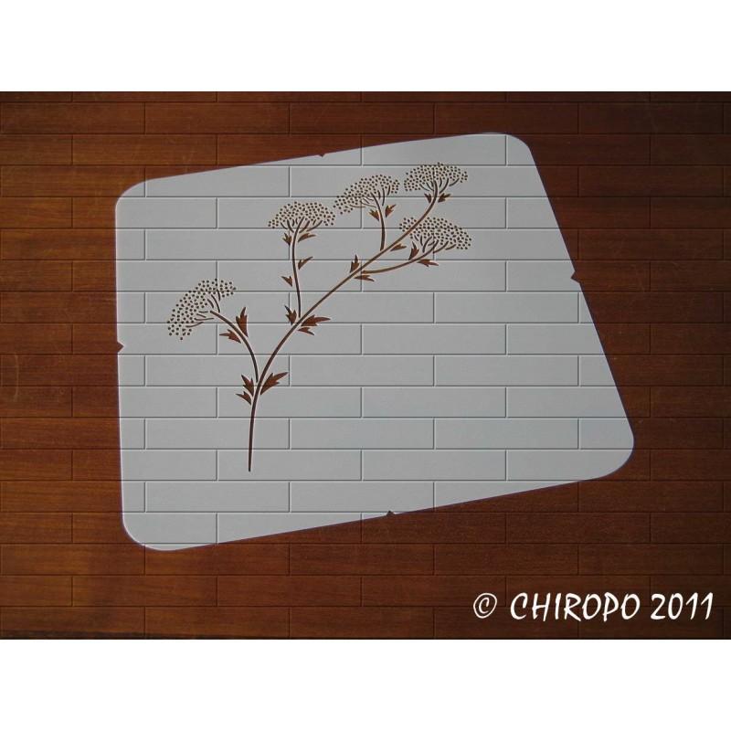 Pochoir Branche fleurie 1 (0552-F3)
