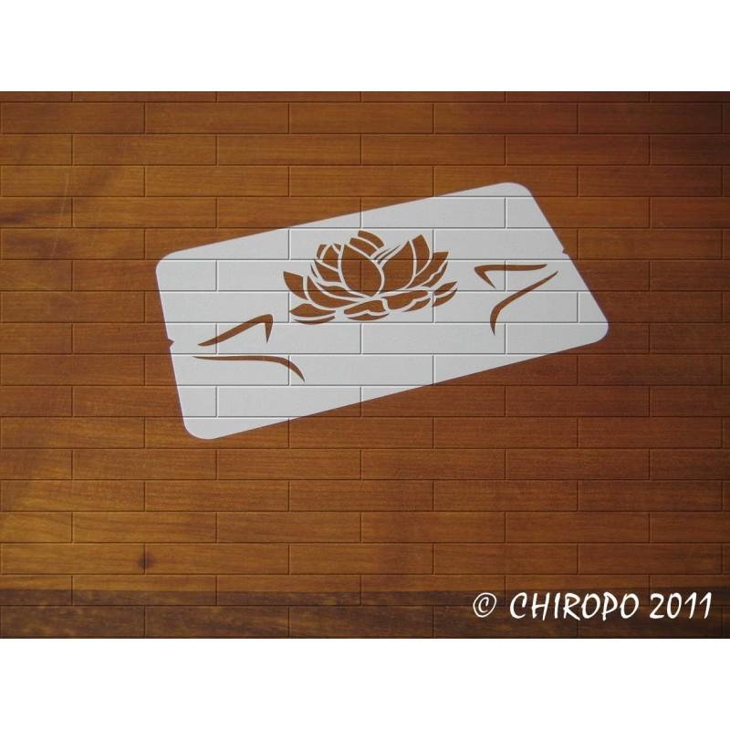 Pochoir Fleur de lotus (0152-F2)