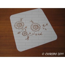 Pochoir Fleur orientale 3 (01500)