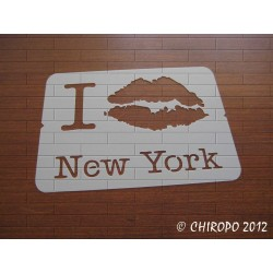 Pochoir I Love New York (06871)