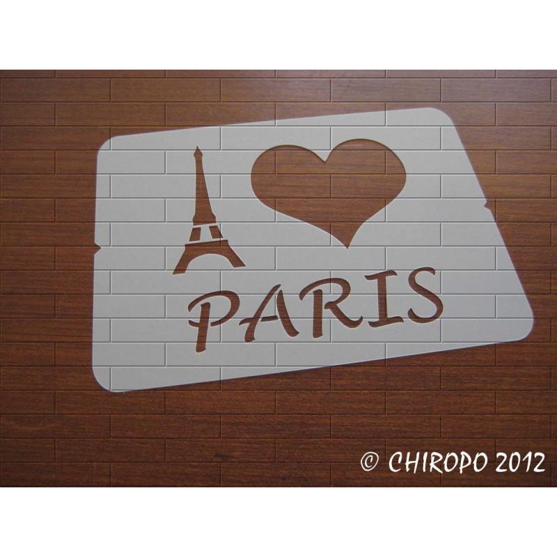 Pochoir I Love Paris (06881)