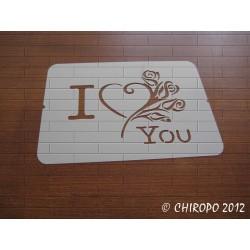 Pochoir I Love You (06891)