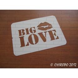 Pochoir Big Love (06861)