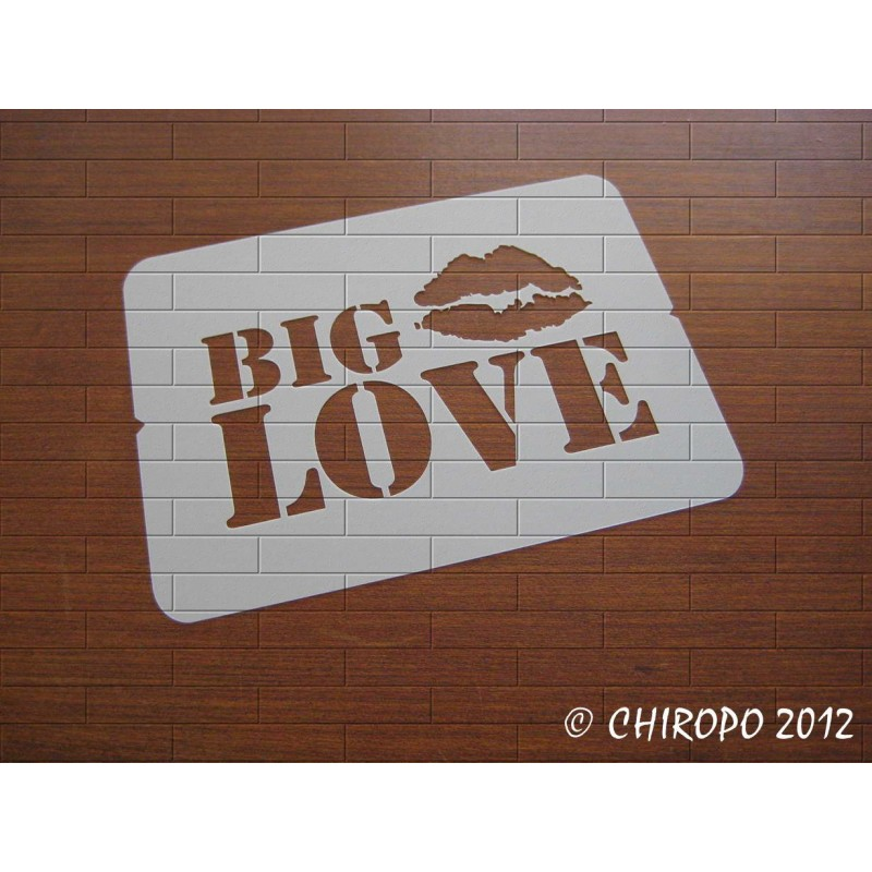 Pochoir Big Love (06861)